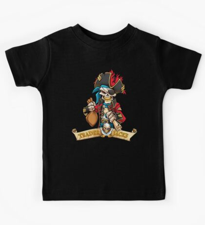 Trader Jack's Skeleton Pirate Billy Bones Kids Tee