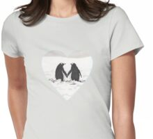 Pingüinos enamorados Womens Fitted T-Shirt