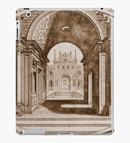 old architecture illusration iPad Case/Skin