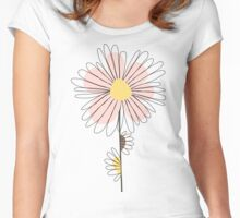 Sweet rose daisy Women's Fitted Scoop T-Shirt