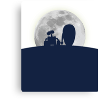 Wall•E and EVE in the Moonlight, Awwwww. Canvas Print