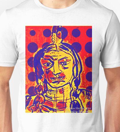 Blue Dot Pop Art Indian Unisex T-Shirt