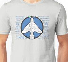Peace in languages and symbols Unisex T-Shirt