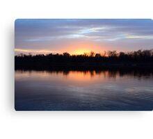 Sunset rings Canvas Print