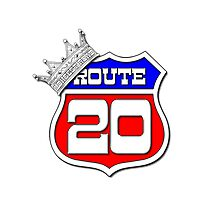 Longest Road In The US Crown on Route 20 Sign Photographic Print