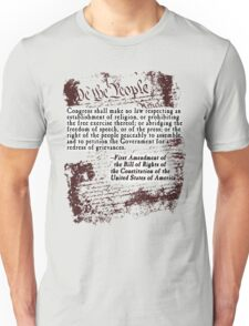 FIRST Amendment US Constitution Bill of Rights Unisex T-Shirt
