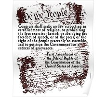 FIRST Amendment US Constitution Bill of Rights Poster