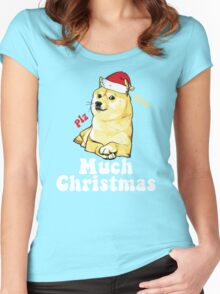 Much Christmas - Doge Meme Women's Fitted Scoop T-Shirt