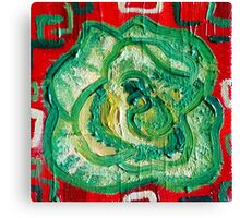 Red and Green - Contemporary Oil Painting - Decorative Kale Canvas Print