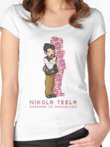 Nikola Tesla Entrenador Pokémon Women's Fitted Scoop T-Shirt