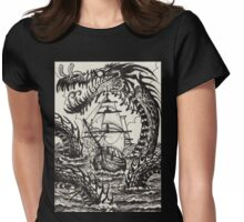Sea Serpent  Womens Fitted T-Shirt