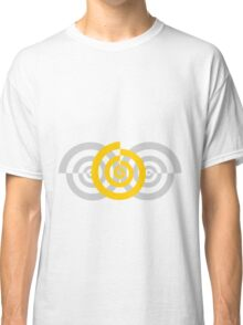 Gray and yellow swirls Classic T-Shirt