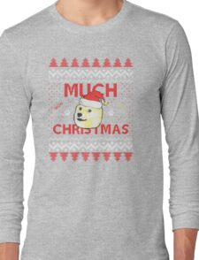 Much Christmas - Doge Meme Long Sleeve T-Shirt