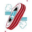 Mille Bornes: Flat Tire by Dyna Moe