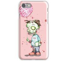 Zombie boy with Brain Balloon iPhone Case/Skin