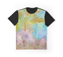Abstract Landscape Painting Tree Flowers Graphic T-Shirt