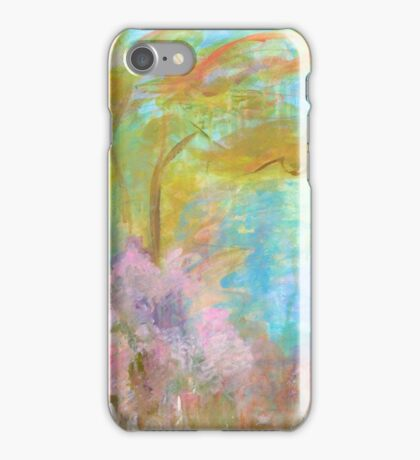 Abstract Landscape Painting Tree Flowers iPhone Case/Skin