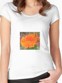 Orange Blossoms  Women's Fitted Scoop T-Shirt