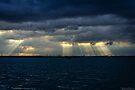 Rays over the bridge onto Sheppy by MarcW
