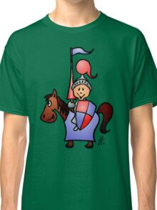 Medieval knight in shining armour Classic T-Shirt