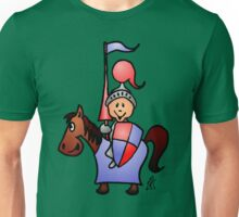 Medieval knight in shining armour Unisex T-Shirt