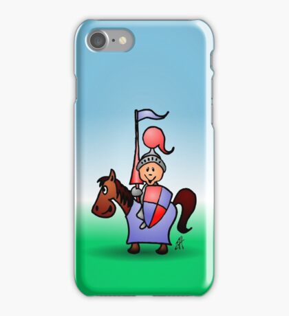 Medieval knight in shining armour iPhone Case/Skin