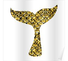 Mermaid Tail - Gold Poster