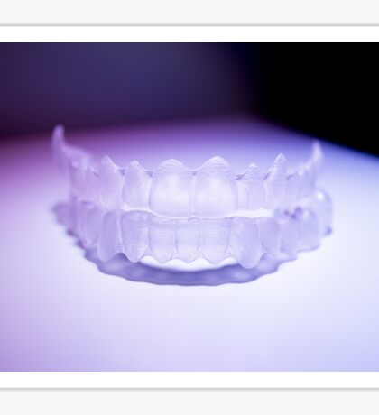 Invisible dental teeth brackets tooth aligners plastic braces retainers to straighten teeth Sticker