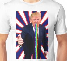 Trump Barfing Rainbow Unisex T-Shirt