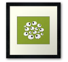 Outdoor party Framed Print