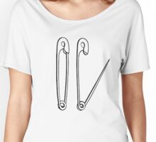 Safety Pins Tall  Women's Relaxed Fit T-Shirt