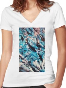 unknown sky Women's Fitted V-Neck T-Shirt