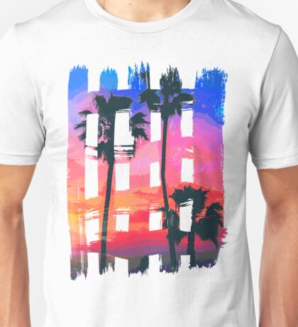 Tropical Beach Brush Strokes Unisex T-Shirt
