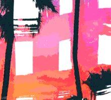 Tropical Beach Brush Strokes Sticker