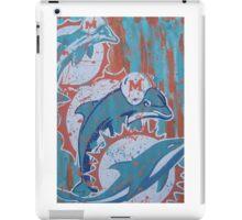 miami dolphins logo evolution iPad Case/Skin