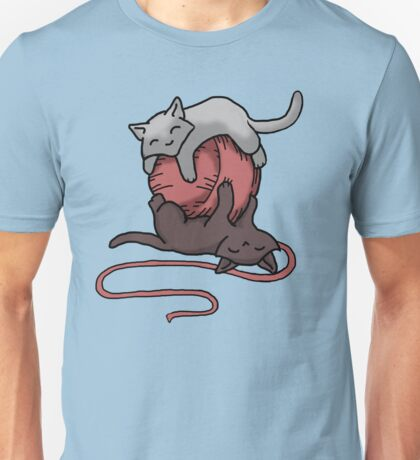 Kittens with string Unisex T-Shirt