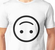 Upside Down Smiley Face Unisex T-Shirt