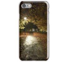 Autumn by streetlight iPhone Case/Skin