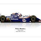 Williams FW16B - Nigel Mansell's final win / reflection art print by JageOwen