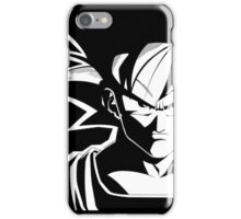 Goku black & white iPhone Case/Skin