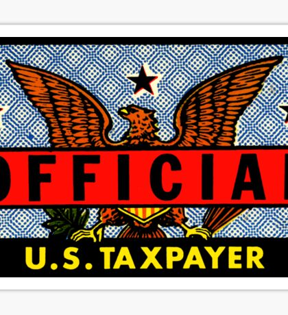Official U.S. Taxpayer Vintage Decal Sticker