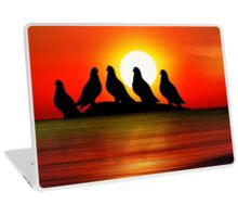 Birds at Sunset point Laptop Skin