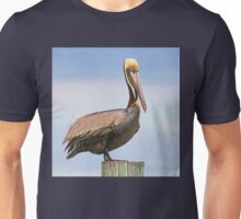 Handsome Brown Pelican  Unisex T-Shirt