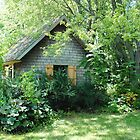 Country Garden Shed by Sandra Fortier