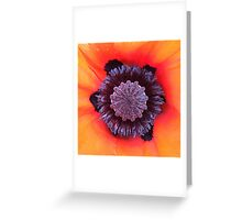 Orange Poppy Crown Greeting Card
