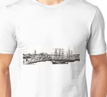 Sailboats in the harbour Unisex T-Shirt