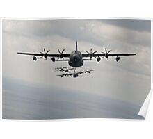 C-130 Hercules Line up Poster