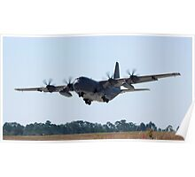C-130 in Landing Approach Poster