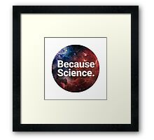 Because Science 2.0 Framed Print