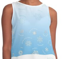 "Multicultural ""Season's Greetings"" Snowflakes Contrast Tank"